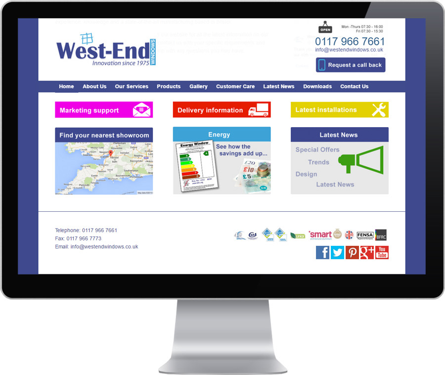 Brand new website opens new era for west end windows for Brand new windows